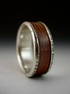 Men's Copper Wire Channel Ring