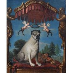 Primitive PUG DOG medium cloth Animal DOLL 1892 repro Pug Pillow PRIM