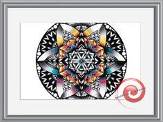 Rainbow Mandala Cross Stitch Pattern, Instant Download PDF