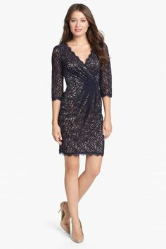 Adrianna Papell Lace Faux Wrap Dress Nordstrom 138-/55- mm