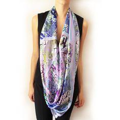 Gorgeous Sky Blue 3D silk scarf Scarves, Kimono Top, Sky, Blue, Tops, Women, Fashion, Scarfs, Heaven