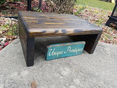 Table Riser Bench Reclaimed Wood Rustic by UniquePrimtiques