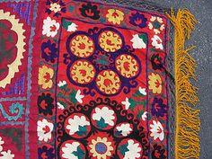 Original Antique 1970's Hand Silk Embroidered UZBEK Suzni Suzani 8 x 5 C 364 | eBay