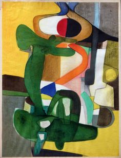 """Морис Эстев (Maurice Estève;1904 - 2001.) """"Абстракционизм - abstract art"""" в социальных сетях - http://www.1abstractart.com/---abstract-art"""
