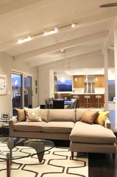 Tiburon Residence, Contemporary Living Room, Open Floor Plan, Dining,  Kitchen