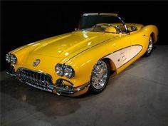 1959 Chevrolet Corvette - chevy, classic, convertible, yellow corvette, custom by loracia