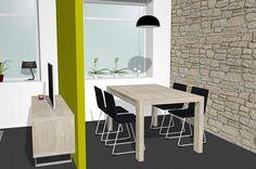Mueble Televisión para un vistoso salón comedor