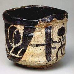 Oribe type. Mino Ware, ceramic. Momoyama period, 17th century.