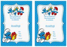 Smurfs Birthday Invitations – Birthday Printable