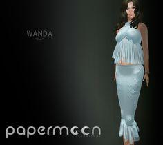 PaperMoon- WANDA Skirt& Top - Blue