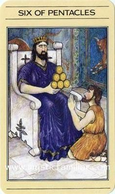 133 Best Tarot - Six of Pentacles images in 2018 | Pentacle