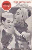 1940s ladies wartime vintage hats world war two knitting pattern reenactment knitting pattern