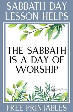 """The Sabbath is a Day of Worship"" teaching helps and handouts for Sunday Lessons in LDS Relief Society and Priesthood Relief Society Lesson Helps, Relief Society Lessons, Relief Society Activities, Sabbath Activities, Sunday Activities, Activity Days, Sabbath Day Holy, Sabbath Rest, Lds Church"