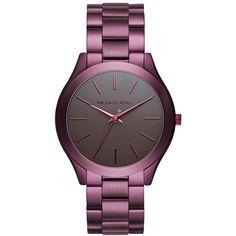 Women's Michael Kors 'slim Runway' Bracelet Watch, 42Mm (640 BRL) ❤ liked on Polyvore featuring jewelry, watches, bracelet watch, michael kors watches, michael kors, bezel watches and slim wrist watch