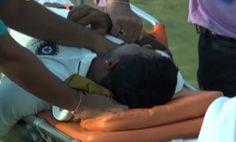 VIDEO: Pragyan Ojha Hospitalized After Suffering Head Injury During Duleep Trophy - http://www.tsmplug.com/cricket/video-pragyan-ojha-hospitalized-after-suffering-head-injury-during-duleep-trophy/