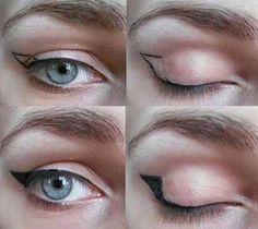 #EyelinerGlitter #EyelinerForBeginners Eyeliner Make-up, Eyeliner For Hooded Eyes, Eyeliner Shapes, Eyeshadow For Green Eyes, Winged Eyeliner Tutorial, Simple Eyeliner, Hooded Eye Makeup, Winged Liner, Make Up Hooded Eyes