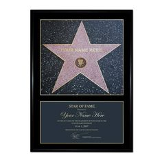 Crowther Personalised Star of Fame You know your loved one means more to you than Brad Pitt or Marilyn Monroe - now prove it with a Star of fame. The Star of fame foundation will create a stunning framed star certificate, personalised  http://www.MightGet.com/january-2017-13/crowther-personalised-star-of-fame.asp