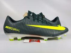 Nike Mercurial Vapor XI CR7 FG SEAWEED VOLT HASTA 852514-376 sz 11.5 CLEATS