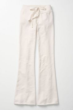 Mosey Manner Loungers #anthropologie    Once upon a time, wearing white was a sign of excessive wealth, so it makes me feel good to wear white lounge pants and go 'Look what I can do!'