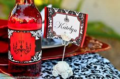 wINE BOTTLE LABELS AND NAME PLACE CARDS