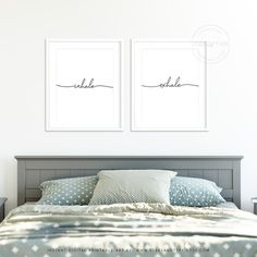 Inhale Exhale, Printable Wall Art, Zen Yoga Art, Bedroom Office Decor, Modern Black Type, Minimalist Design Typography, Digital Print Jpeg by StarsAndType on Etsy