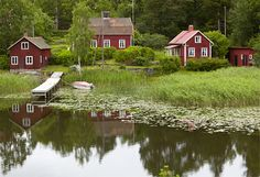 Village in traditional Dalsland Province (Vastra Gotland and Varmland County), Sweden.
