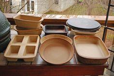 Pampered Chef stoneware cookery, I dont bake on anything else! I love the stoneware!