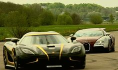 Bugatti Veyron vs Koenigsegg Agera S Hundra - Drag Race   (VIDEO)