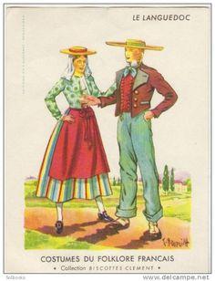 Costumes du folklore français, Collection Biscottes Clement - Languedoc