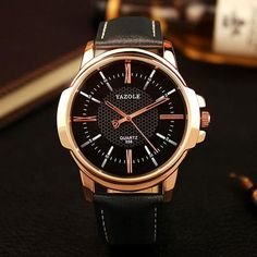 Rose Gold Dial Wrist Watch for Men