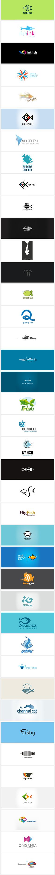 40 logos inspired by fish