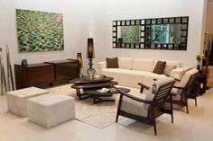 Saccaro USA showroom in Midtown Miami, living room set