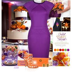 Purple & Orange by talvadh on Polyvore featuring moda, Alexandre Birman, Tory Burch, ASOS and SPECIAL DAY