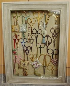 Anyone that needlepoints or sews can appreciate the value of hand me down scissors.  What a beautiful idea!