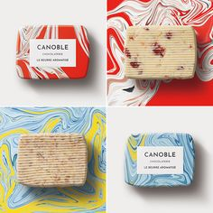 Package Design, Coasters, Packaging, Album, Sweets, Meals, Chocolate Factory, Butter, Packaging Design