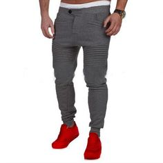 cc436591e0 Designer Mens Harem Joggers Sweatpants Elastic Cuff Drop Crotch Biker  Joggers Pants For Men Black Gray