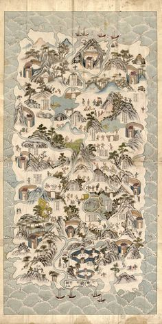 Historical map of Hainan, China (mid-19th century) [1024x2048]