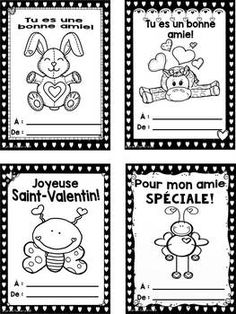 Valentine Crafts, Be My Valentine, Core French, French Education, Valentine's Cards For Kids, Teaching Jobs, Dyi Crafts, Kids Learning Activities, Teaching French