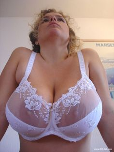 Bra white big boobs
