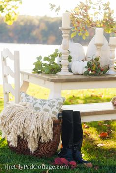 Beautiful Thanksgiving Table/ LilyPadCottage