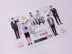 TVQX U Know MAX Standing Paper Doll Korean K Pop Star KPOP Paper Doll