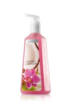 I love this scent for summer!! It smells SOOOOOO yummy!! Bath and Body Works Caribbean Escape Hand Soap