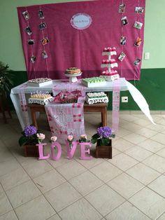 Mesa chá de cozinha Bride shower