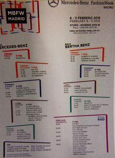 Calendario oficial #MBFWM15 #Fashion #moda #runway