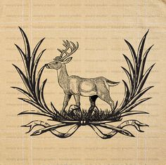 Deer Antler Deer Fabric Print Pillow Wall by SimplyGraphicStore, $1.00