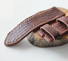 26mm leather watch strap.
