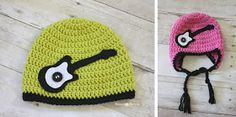 Repeat Crafter Me: Crochet Rock Star Guitar Hat Pattern