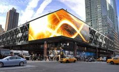 NYC Port Authority's media facade by GKD Metal Fabrics.  Cool technology, bland building.