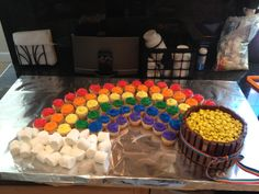 """Rainbow cupcakes with """"pot of gold"""" cake!"""