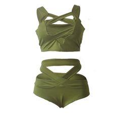 1Set Women Swimwear Bikini Set Bandage Push-Up Swimsuit Beachwear